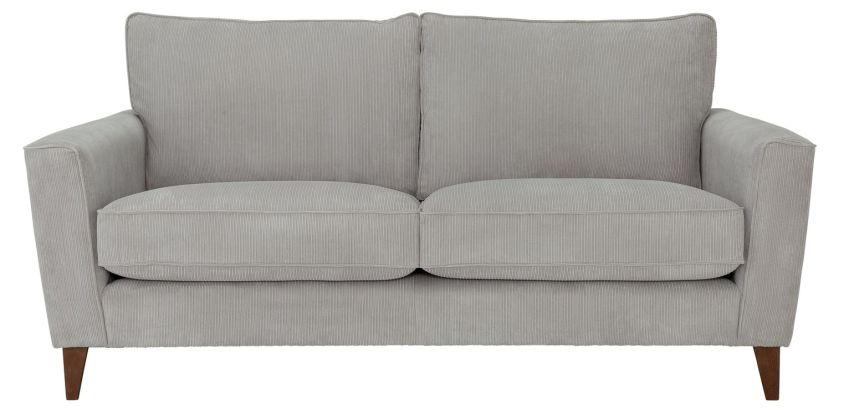 Argos Home Berlin 3 Seater Fabric Sofa - Silver from Argos