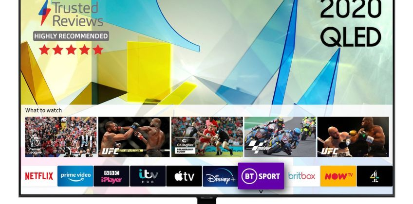 Samsung 65 Inch QE65Q80TATXXU Smart 4K Ultra HD QLED TV from Argos