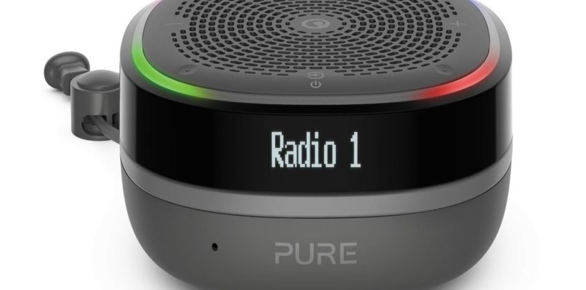 Pure StreamR Portable Bluetooth Speaker/ DAB Radio - Black from Argos