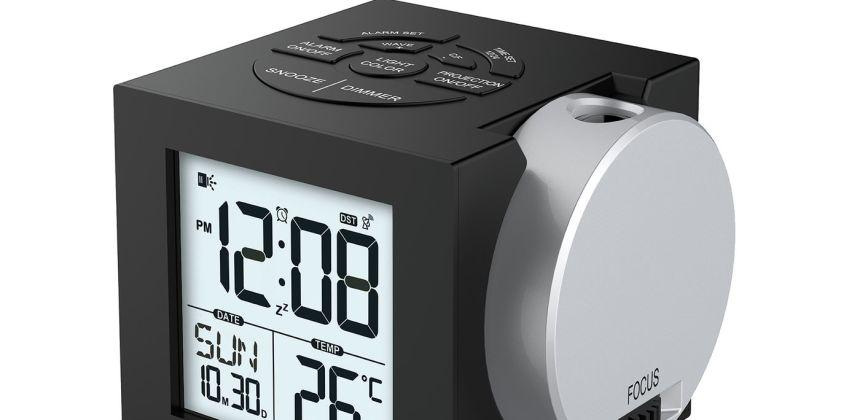 Precision Radio Controlled Projection Digital Alarm Clock from Argos