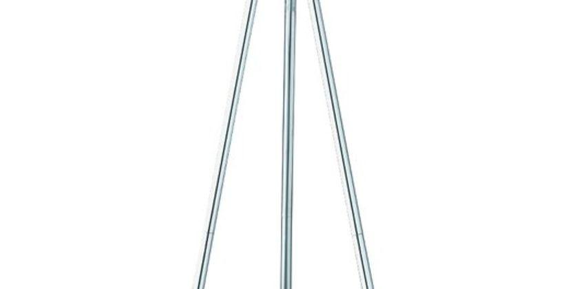 Argos Home Tripod Floor Lamp - Chrome & Grey from Argos