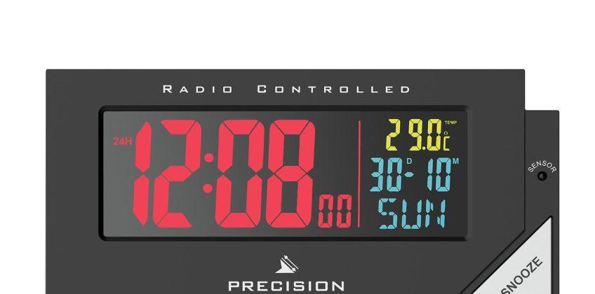 Precision Radio Controlled Colour Display Alarm Clock from Argos