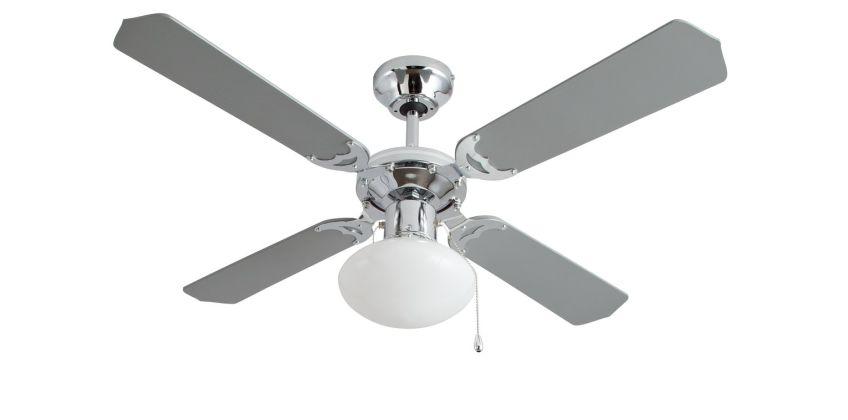 Argos Home Ceiling Fan - Grey & Chrome from Argos