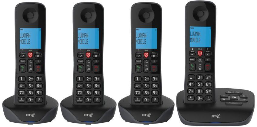 BT Essential Cordless Telephones & Answering Machine - Quad from Argos