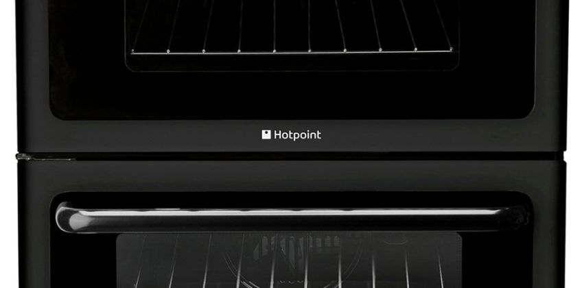Hotpoint HAE60K 60cm Double Oven Electric Cooker - Black from Argos