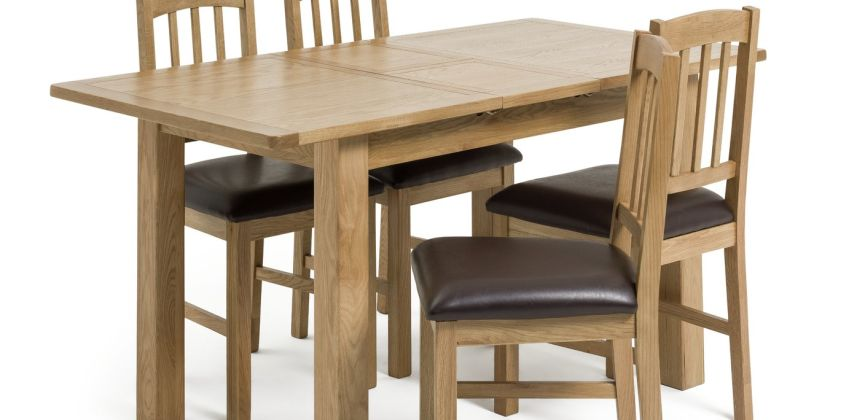 Argos Home Ashwell Oak Veneer Extending Table & 4 Chairs from Argos