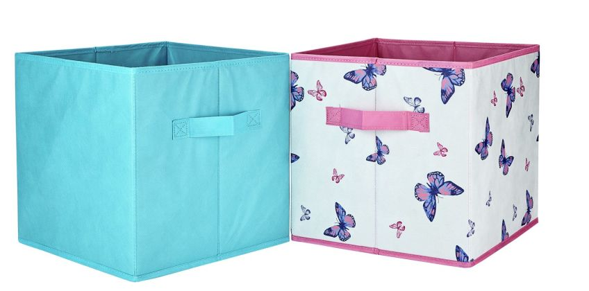Argos Home Pack of 4 Butterfly Canvas Boxes from Argos