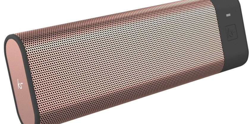 KitSound Boombar Portable Wireless Speaker - Rose Gold from Argos