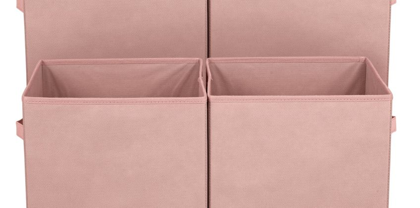 Argos Home Pack of 4 Canvas Boxes from Argos