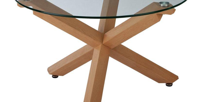 Argos Home Alden Cross Leg Coffee Table - Glass from Argos