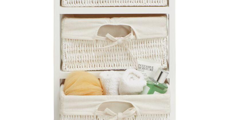 Argos Home Isla Storage Unit with 3 Baskets - White from Argos