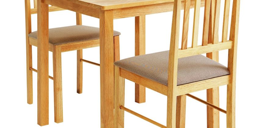 Argos Home Kendal Solid Wood Dining Table & 2 Chairs from Argos