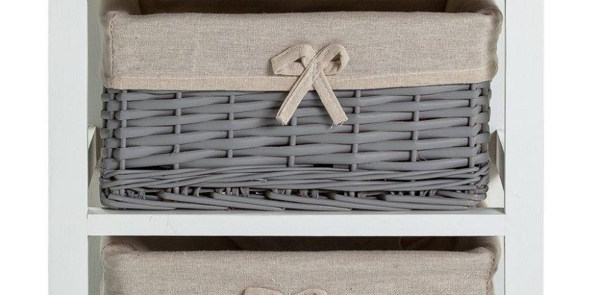 Argos Home Isabelle 1 Drawer & 2 Basket Storage Unit - Grey from Argos