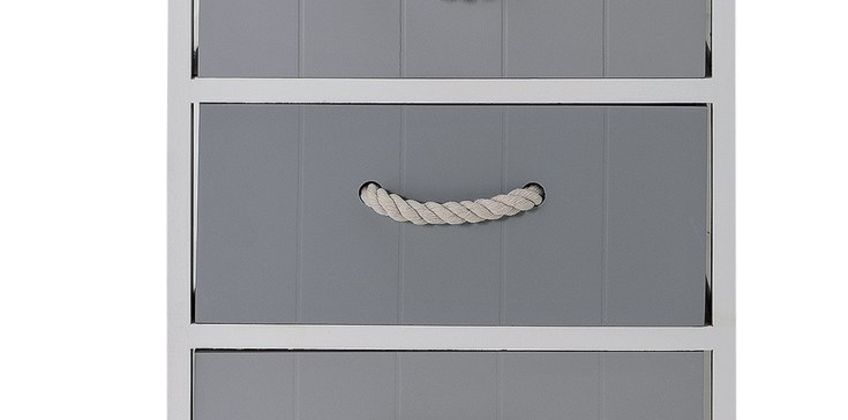 Argos Home Ella 5Drw Rope Handle Storage Unit - Grey & White from Argos