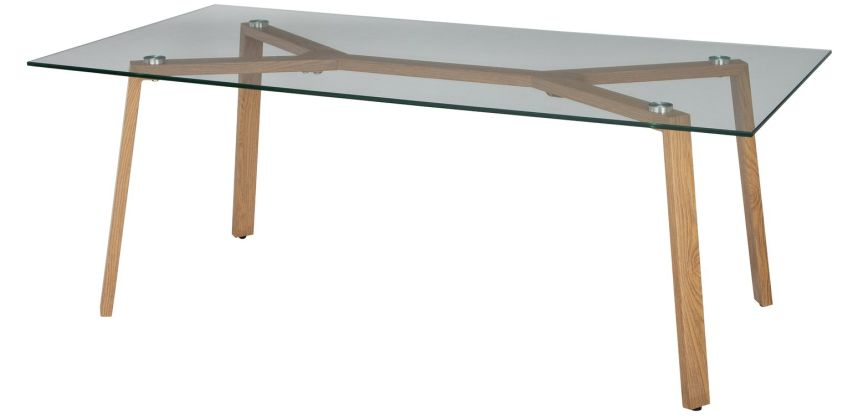 Argos Home Helena Coffee Table - Glass and Oak Effect from Argos