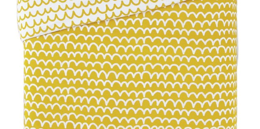 Argos Home Mustard Squiggle Bedding Set from Argos