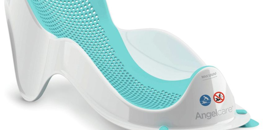Angelcare Soft Touch Mini Baby Bath Support - Aqua from Argos