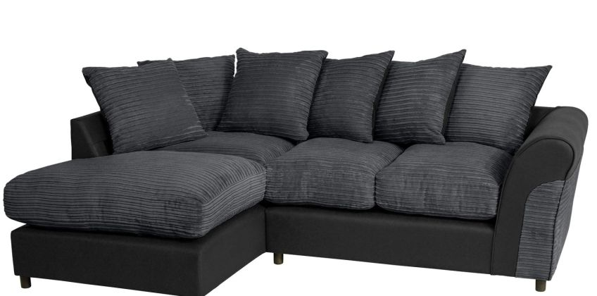 Argos Home Harry Left Corner Fabric Sofa - Charcoal from Argos