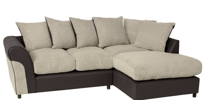 Argos Home Harry Right Corner Fabric Sofa - Natural from Argos