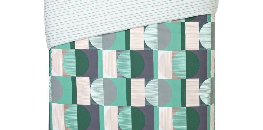 Argos Home Geo Squares Printed Bedding Set from Argos