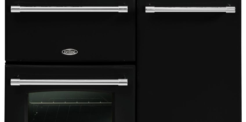 Belling Farmhouse 90G Dual Fuel Range Cooker - Black from Argos