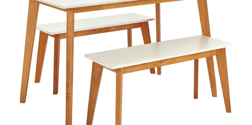 Argos Home Harlow Dining Table & 2 Stools from Argos