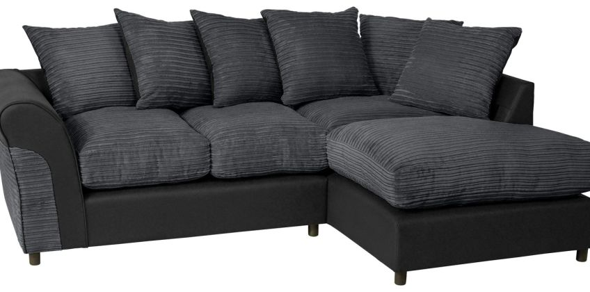 Argos Home Harry Right Corner Fabric Sofa - Charcoal from Argos