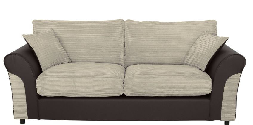Argos Home Harry 3 Seater Fabric Sofa - Natural from Argos
