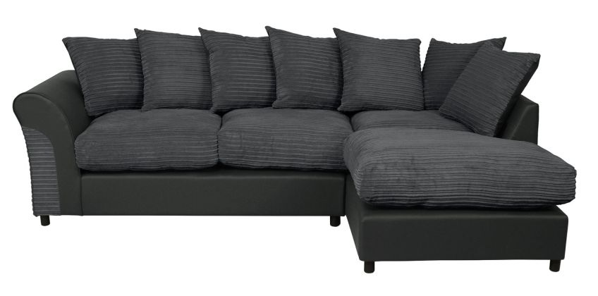Argos Home Harry Large Right Corner Fabric Sofa - Charcoal from Argos