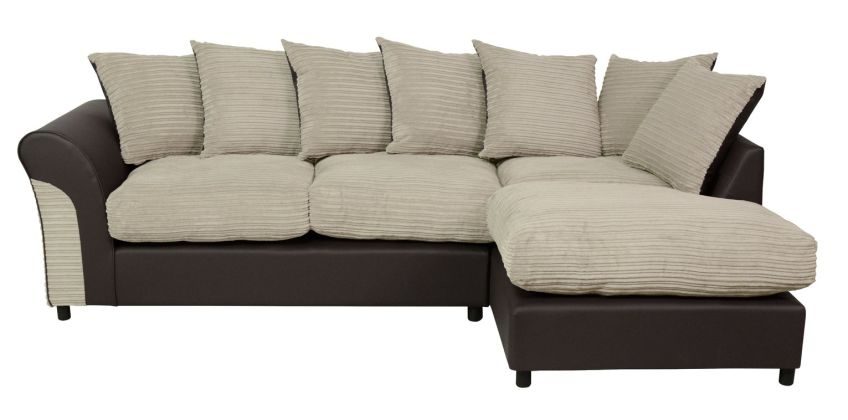 Argos Home Harry Large Right Corner Fabric Sofa - Natural from Argos