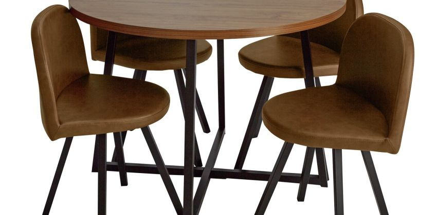 Argos Home Nomad Oak Effect Dining Table & 4 Chairs from Argos