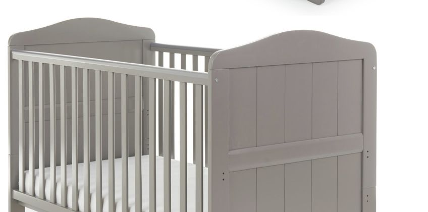 Obaby Whitby Cot Bed & Cot Top Changer - Taupe Grey from Argos