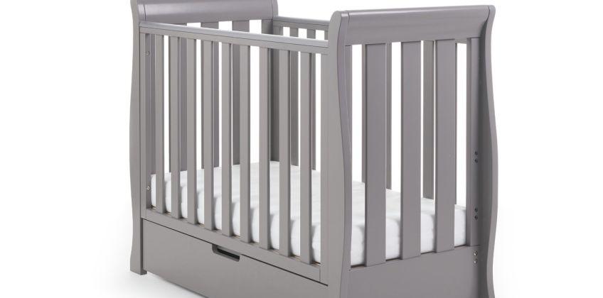 Obaby Stamford Space Saver Cot & Sprung Mattress Taupe Grey from Argos