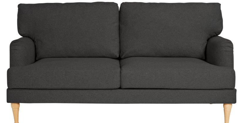 Argos Home Dune 3 Seater Fabric Sofa - Charcoal from Argos