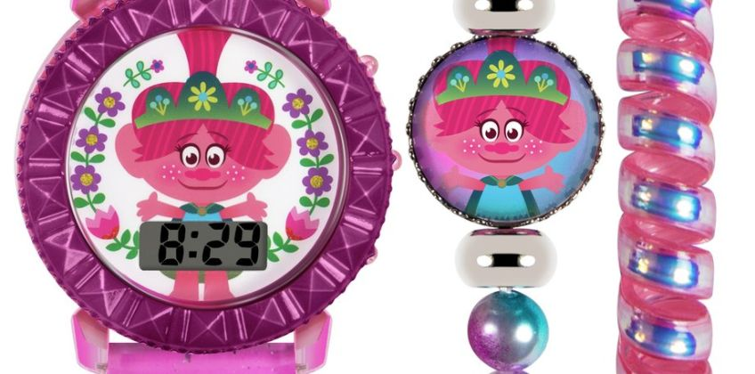 Trolls Kid's World Tour Watch & Jewellery Set from Argos