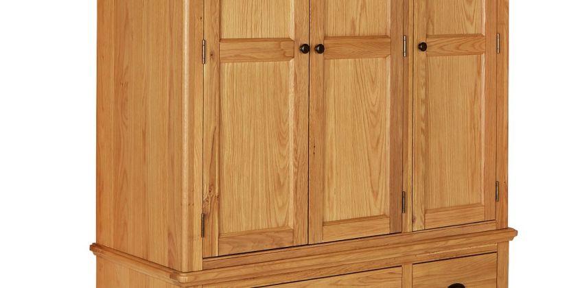 Argos Home Oakham Oak & Veneer 3 Door 4 Drawer Wardrobe from Argos