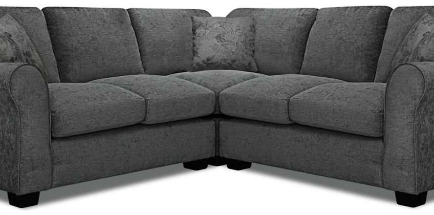 Argos Home Tammy Corner Fabric Sofa - Charcoal from Argos