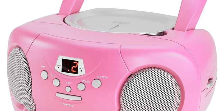 Groove Boombox CD Player with Radio - Pink from Argos
