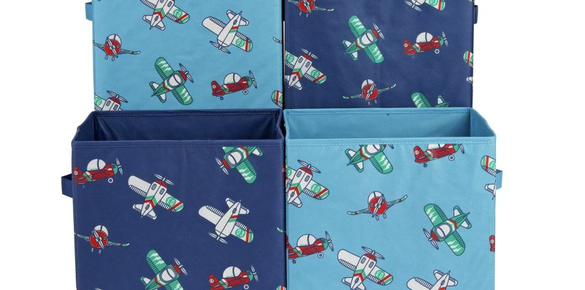 Argos Home Set of 4 Planes Canvas Boxes from Argos