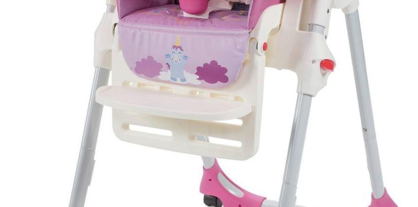 Chicco Polly Easy 4 Wheel Highchair - Unicorn from Argos