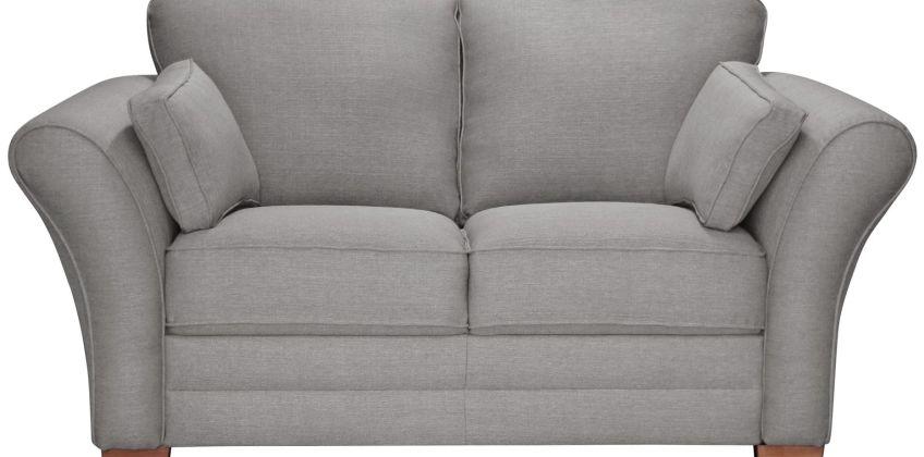 Argos Home New Thornton 2 Seater Fabric Sofa - Light Grey from Argos