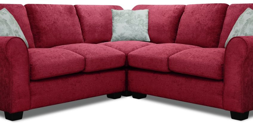 Argos Home Tammy Corner Fabric Sofa - Wine from Argos