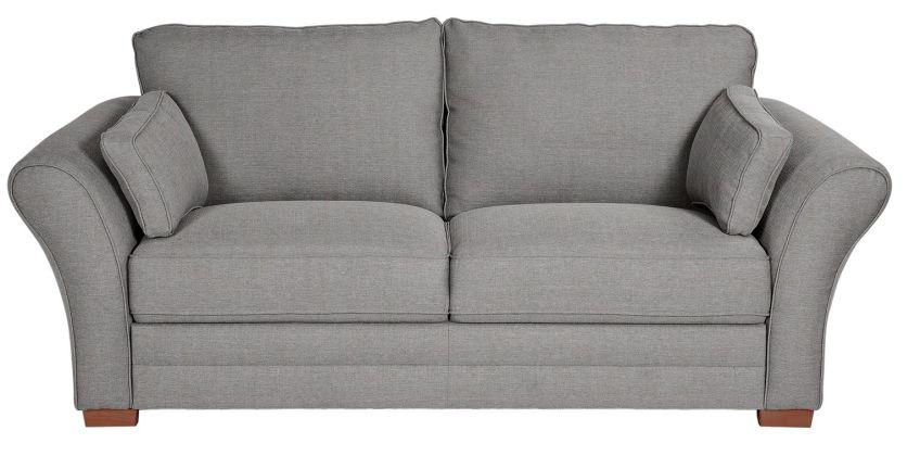 Argos Home New Thornton 3 Seater Fabric Sofa - Light Grey from Argos