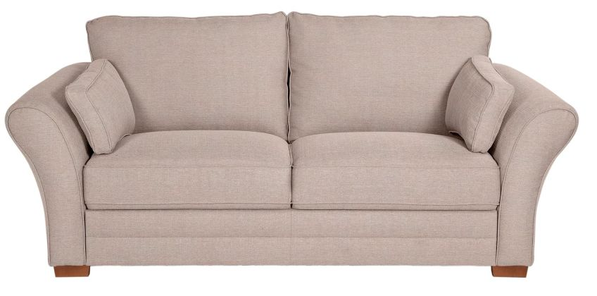 Argos Home New Thornton 3 Seater Fabric Sofa - Old Rose from Argos