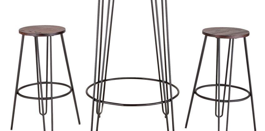 Argos Home Hairpin Bar Table & 2 Stools from Argos