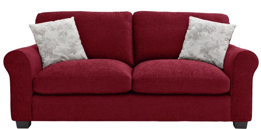 Argos Home Tammy 3 Seater Fabric Sofa - Wine from Argos
