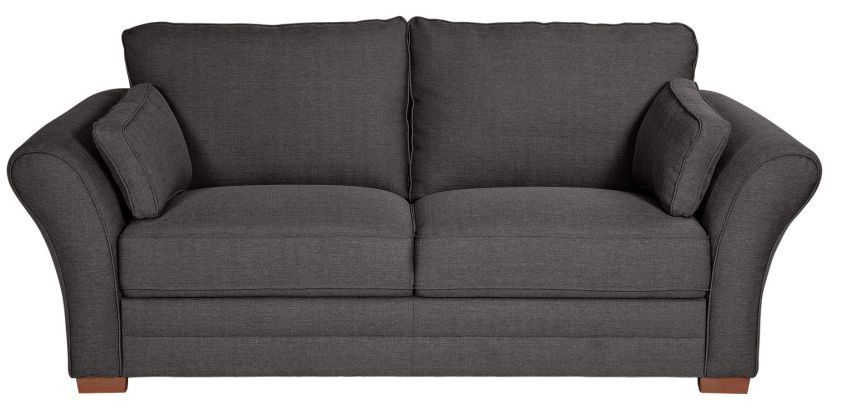 Argos Home New Thornton 3 Seater Fabric Sofa - Charcoal from Argos