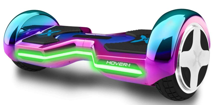 Hover-1 Horizon 8 Inch Wheel Iridescent Hoverboard from Argos