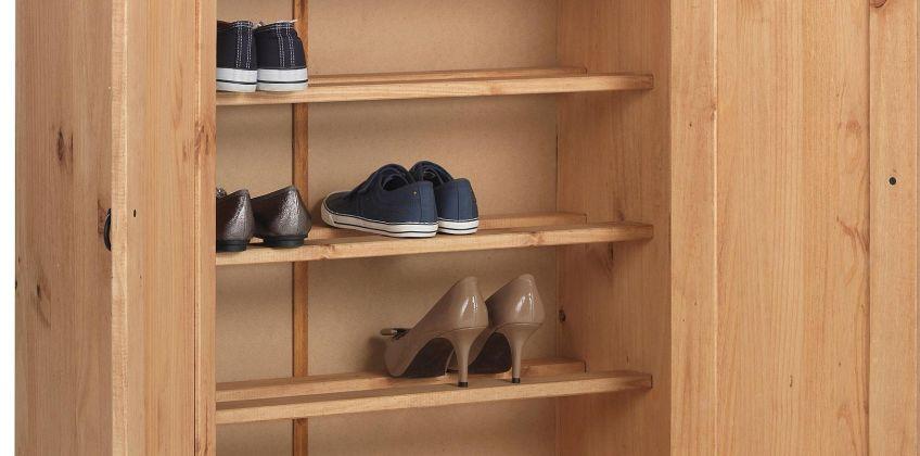 Argos Home Puerto Rico Shoe Storage Cabinet - Antique Pine from Argos
