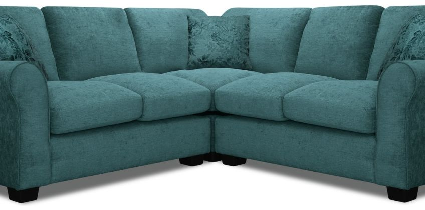 Argos Home Tammy Corner Fabric Sofa - Teal from Argos